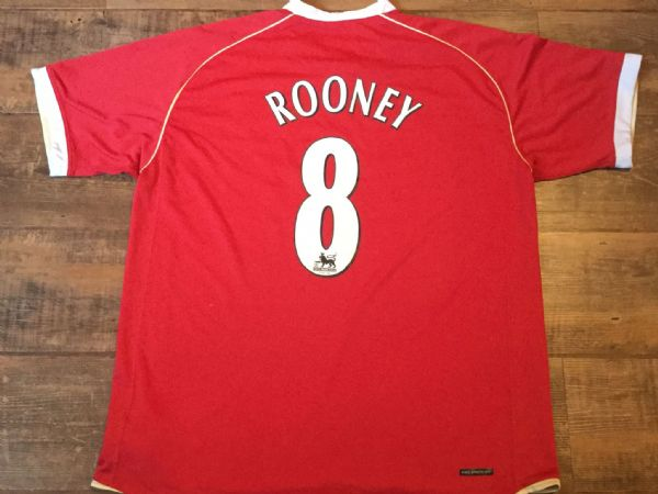 2006 2007 Manchester United Rooney Home Football Shirt Adults XL